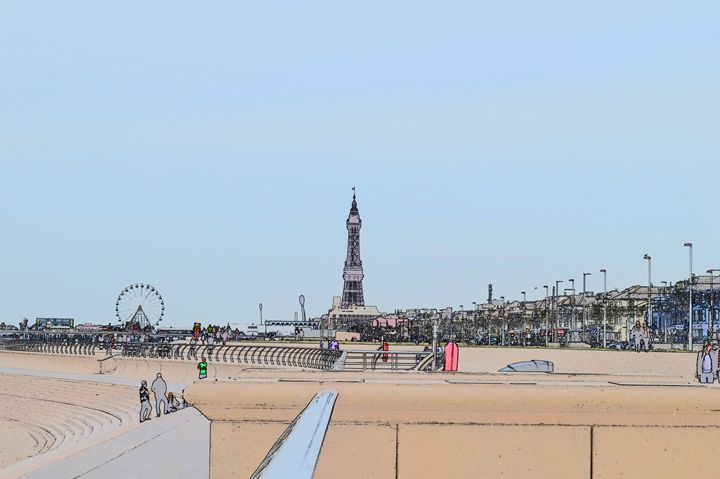 Blackpool tower and wheel - Timawells