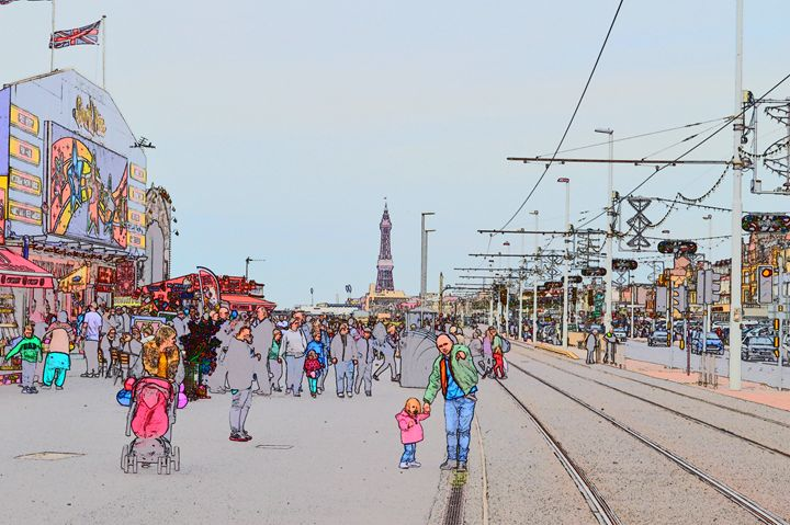 Blackpool tower and tram line - Timawells