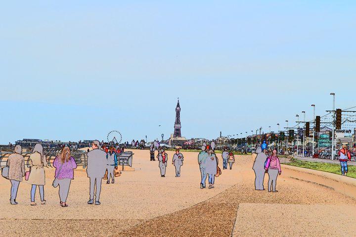 Blackpool wheel, tower, promenade - Timawells