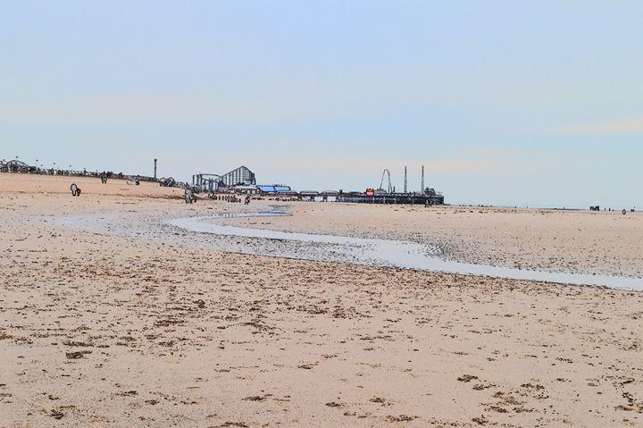 Blackpool, big dipper, pier & beach - Timawells