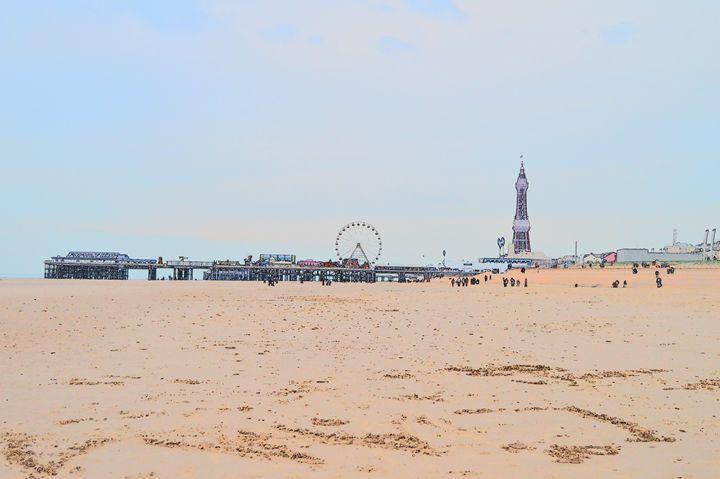Blackpool pier, wheel, tower - Timawells