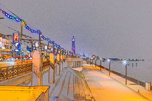 Blackpool tower lights