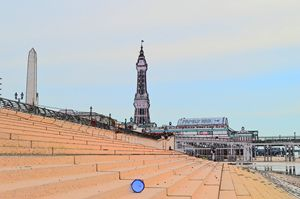 Blackpool Tower photograph sketch.
