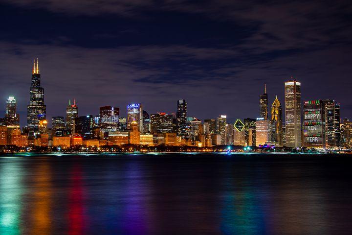 Chicago Skyline: Happy New Year - David S Photography
