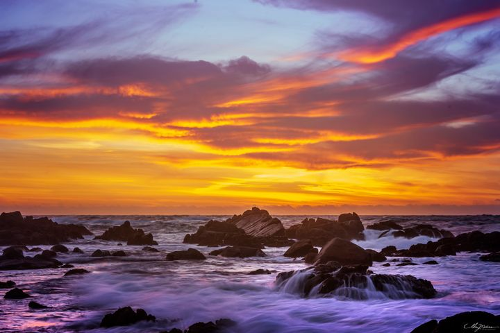 Asilomar Fire Flow - Waves and Wonders - Amy Medina Photography
