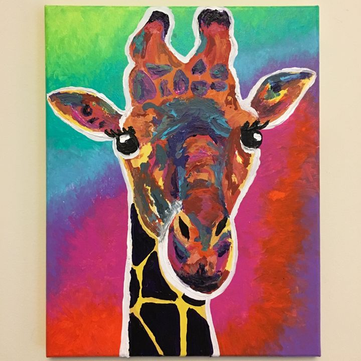 That 70's Giraffe - Paintings by Suzanne Marie