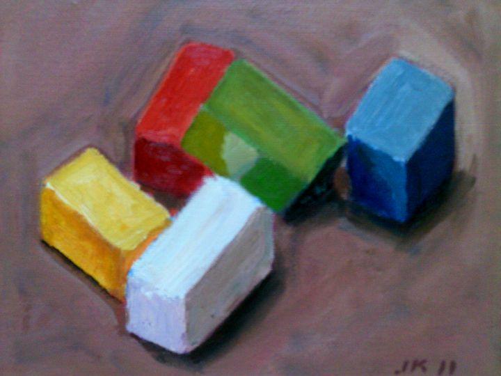 Wooden Block Study - James Klein Original Oils