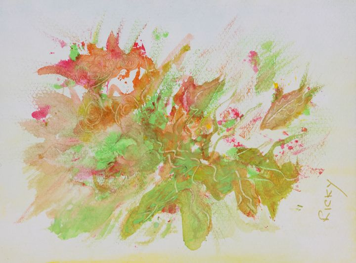 Coral Abstract - Veronica Rickard