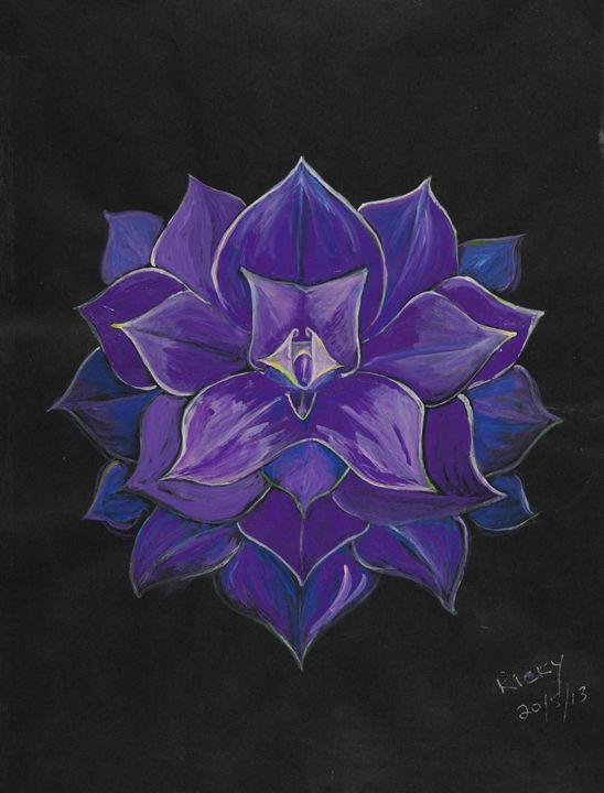 Purple Flower - Veronica Rickard