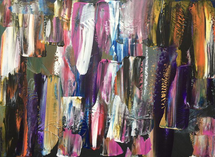 Purple, Orange,White Symphony - Dinara's Art