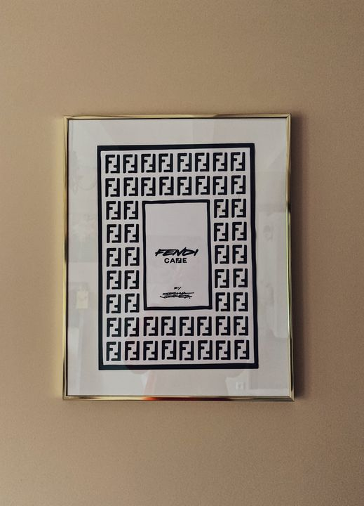 Fendi Café Menu - golden framed - VictoriaML