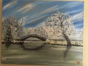 Snowy pond - M.Y. Art Studios