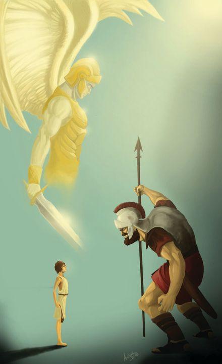 David and Goliath - Christ Art