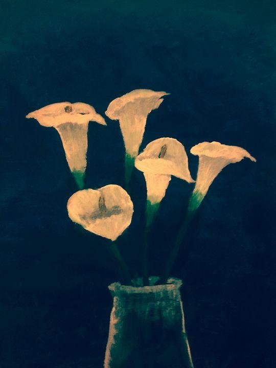 Lilies in Water Jar - Untitled