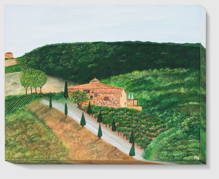 Landscape in Tuscany - Sandra Lorant