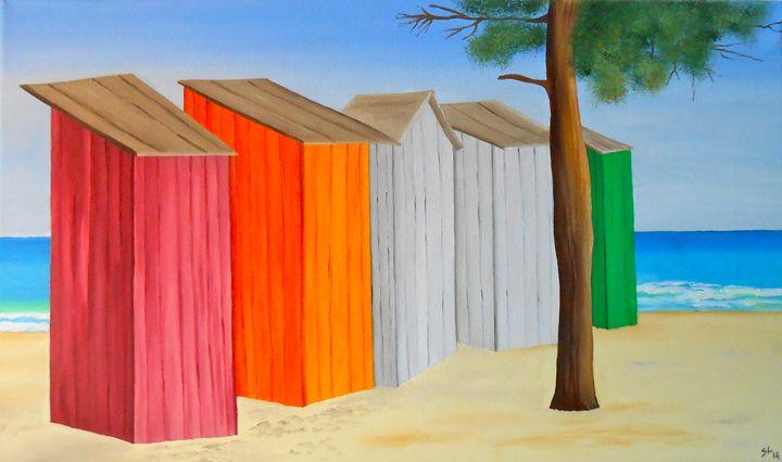 Beach Huts - Sandra Lorant