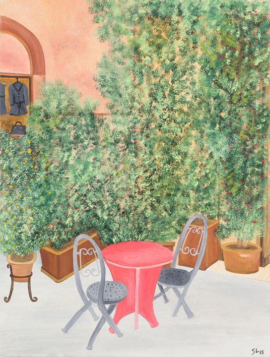 Afternoon break at Trastevere - Sandra Lorant