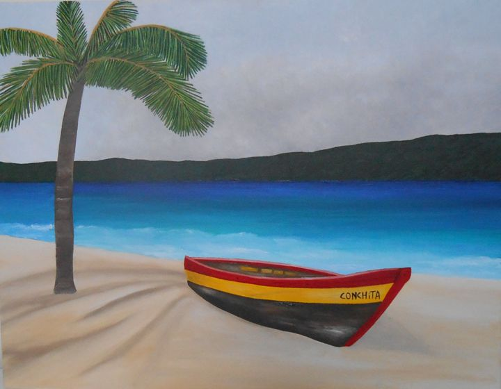 Boat on the Beach - Sandra Lorant