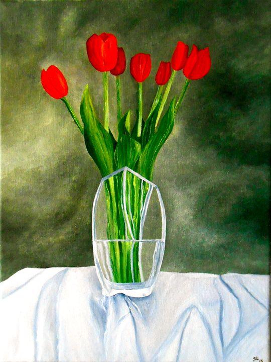 Still Life with Tulips - Sandra Lorant