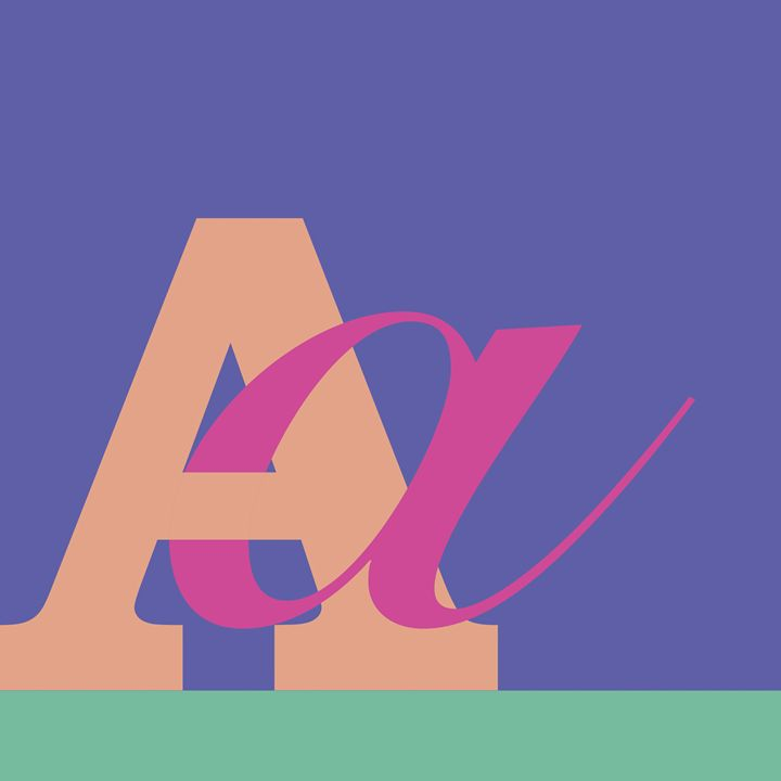 """""""A"""" marriage - Abstracted Typography"""