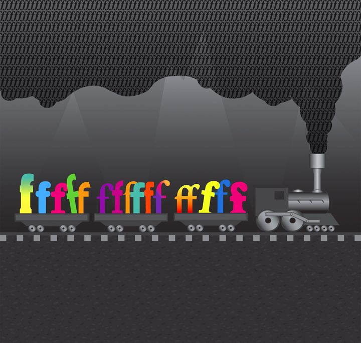 "The ""F"" Train - Abstracted Typography"