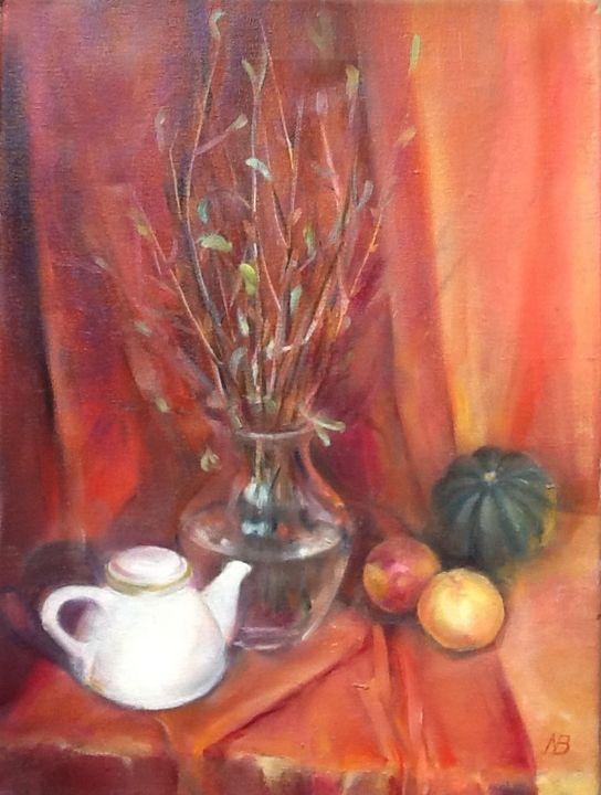 Still life with teapot - Natalia