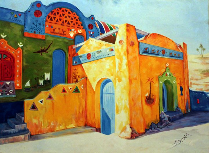 Egyptian Nubian House - Ahmed Bayomi Arts