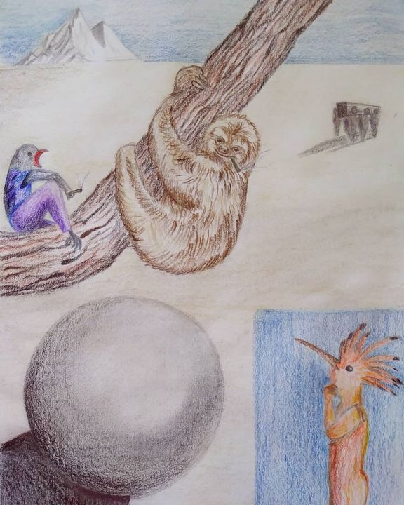 Hoopoe meets Common Cuckoo - Sherry