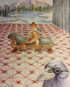 Hoopoe meets the Crow
