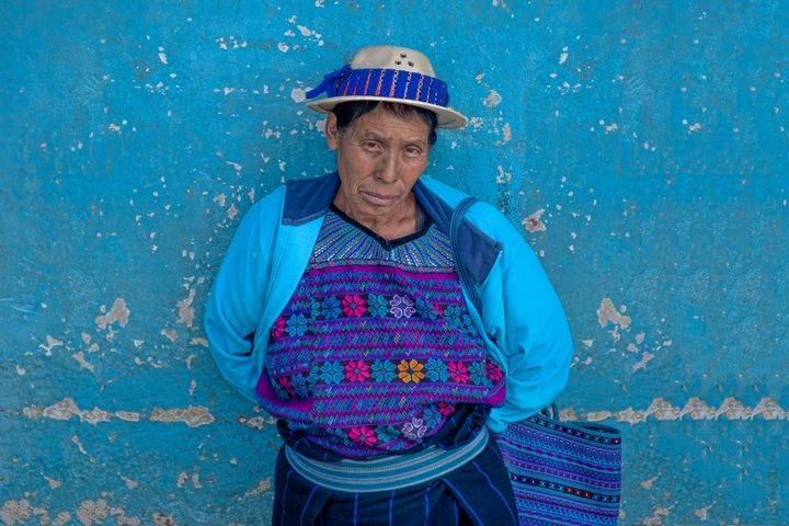 Mayan woman in traditional dress - Christopher William Adach Photography