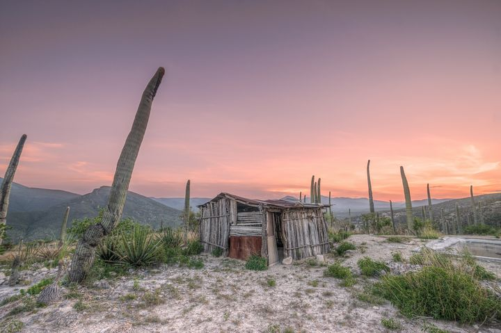 Sunset over Zapotitlan Salinas - Christopher William Adach Photography