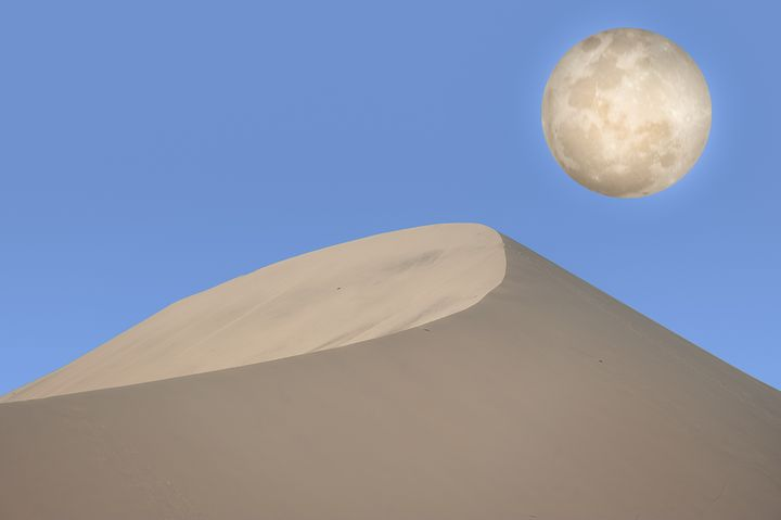 The desert & the moon 1 - Christopher William Adach Photography