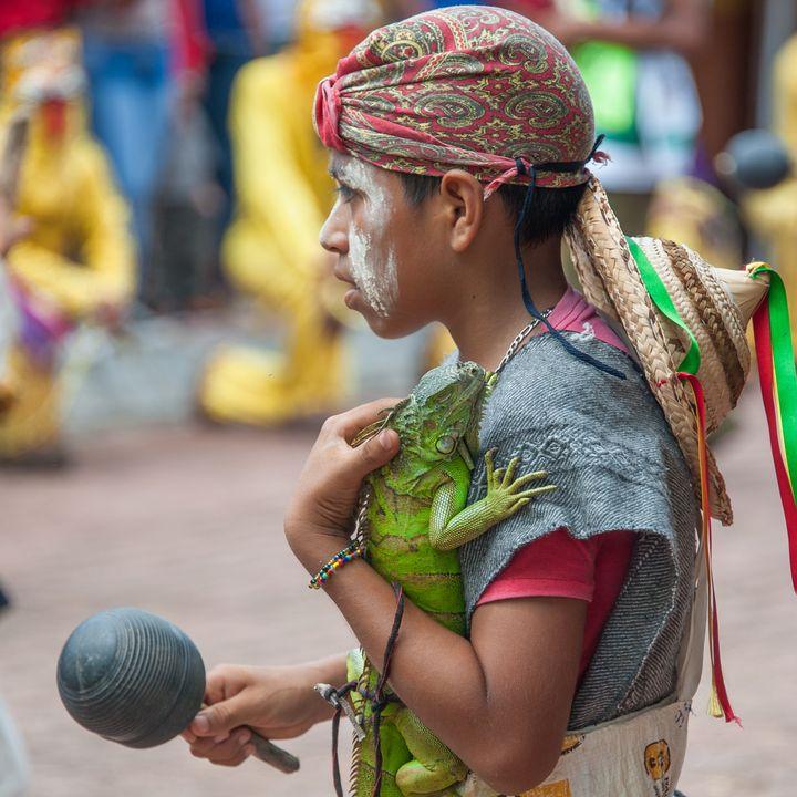 Boy with iguana - Christopher William Adach Photography