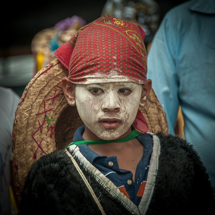 Boy with painted face - Christopher William Adach Photography