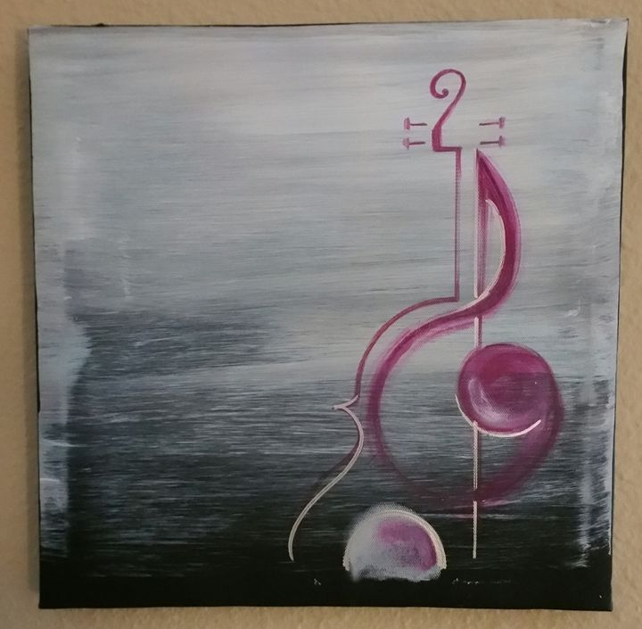 untitled cello painting - Art-by-Aaron