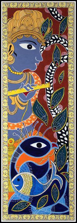 Krishna - Madhubani - Vinnies