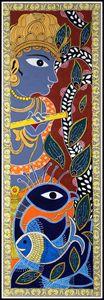 Krishna - Madhubani