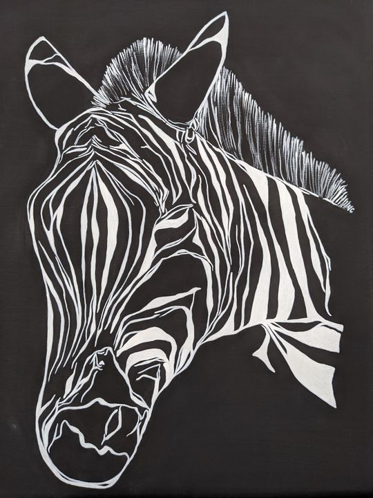 #Zebra in #blackandwhite - FiveOz Creations