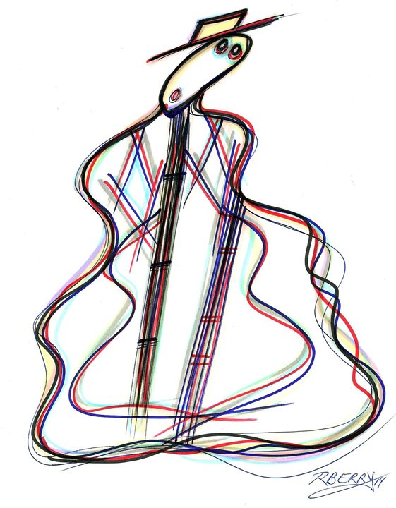 Sassy Guitar Man - JazzXpressionstudio Art