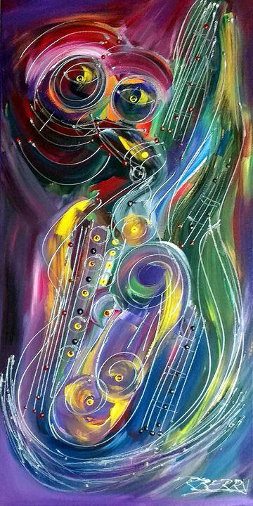 Eyes of Sax Jazz - JazzXpressionstudio Art