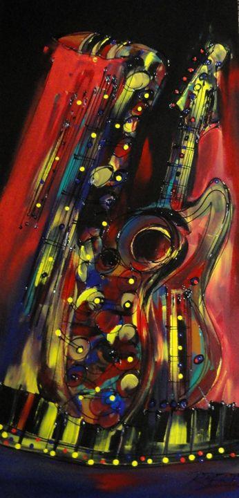 Jazz Jam Session - JazzXpressionstudio Art