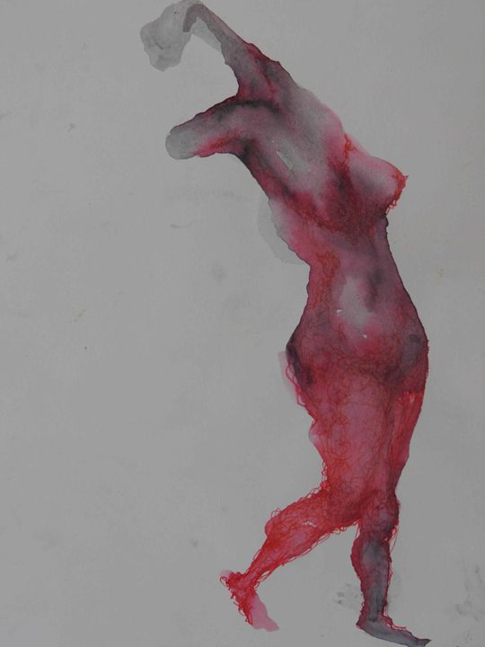 Red woman dance - Idit Goldzweig