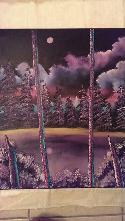 """Calm Night"" - oil & pencil artwork"