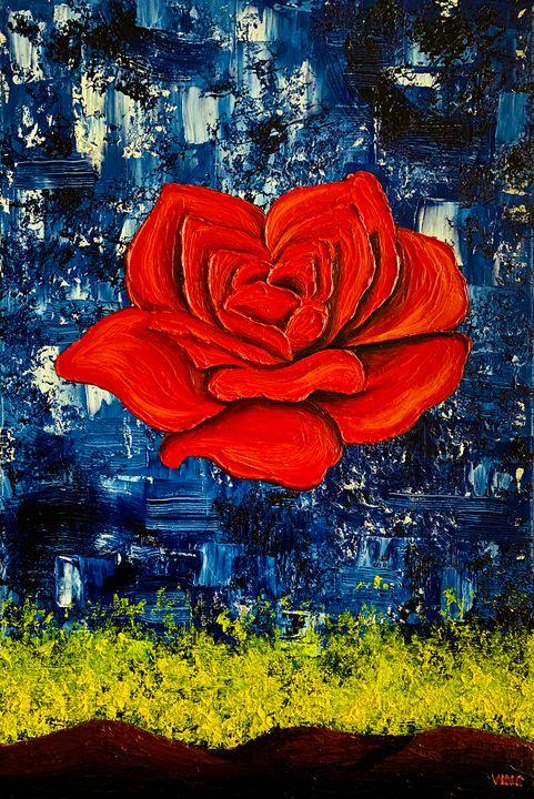 The Meditative Rose - Graphixo