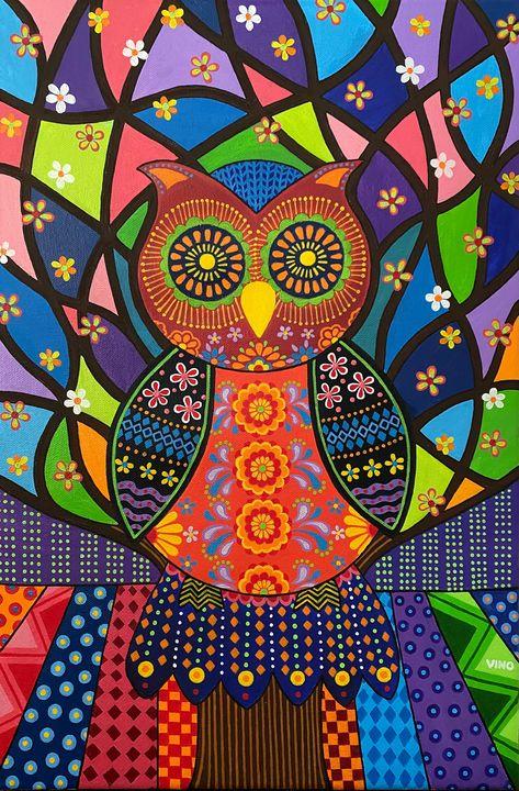 Owl and Tree of Life - Graphixo