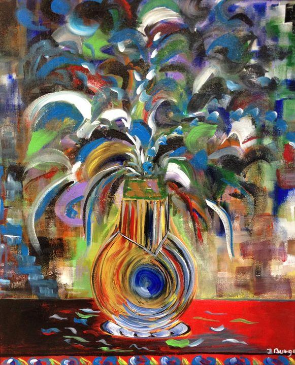 Blue Eyed Vase - Jozsef Burge Gallery