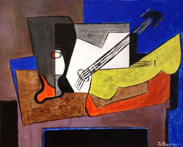 Guitar at Rest - Jozsef Burge Gallery