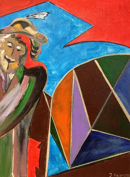 Man in Hat - Jozsef Burge Gallery