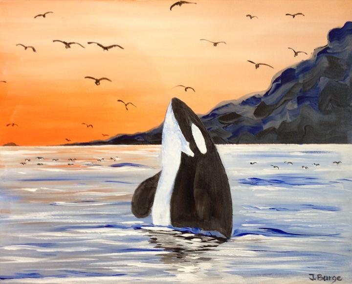 Orca and Birds - Jozsef Burge Gallery