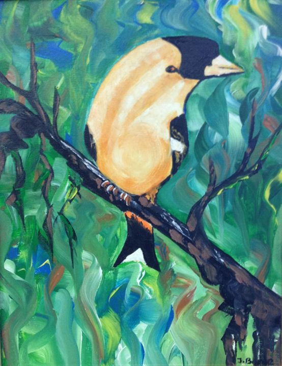 Yellow Bird - Jozsef Burge Gallery